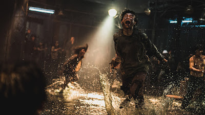Sequel to 2016 Zombie Suspense Film Train to Busan, Peninsula takes the team back to the island.  The movie is a zombie horror action film with entertainment and heart  The film stars Dong-Won GangJung-hyun Lee Re Lee Hae-hyo Kwon Min-Jae Kim Gyo-hwan Koo Do-Yoon Kim Ye-Won Lee