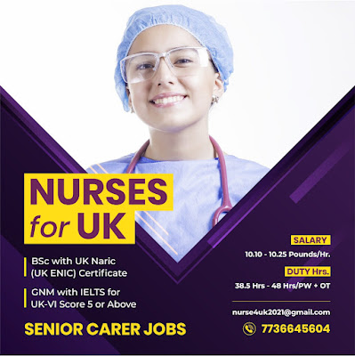 NURSES FOR UK - SENIOR CARER JOBS