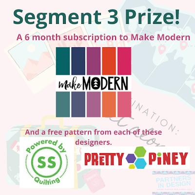 Segment 3 prizes for Destination: Quilt Along