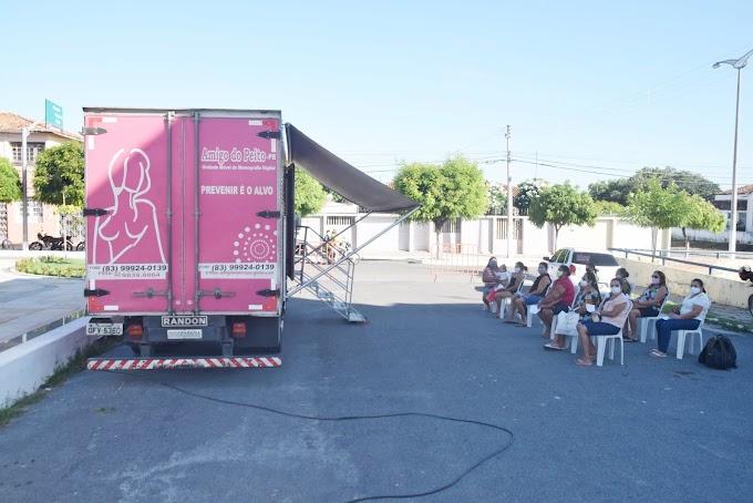 Secretaria da Saúde em parceria com o Caminhão Amigo do Peito realiza mamografias em Cariré