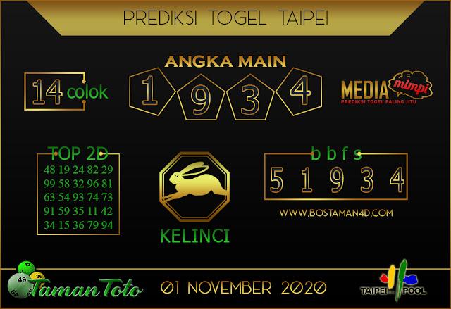 Prediksi Togel TAIPEI TAMAN TOTO 01 NOVEMBER 2020