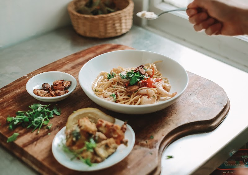 Rêveuse Recipe: Italian Spaghetti con Gamberi and Baked Courgette
