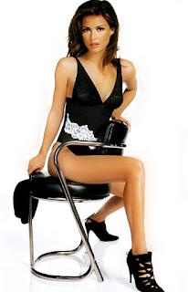 Josie Maran Sitting On Stool
