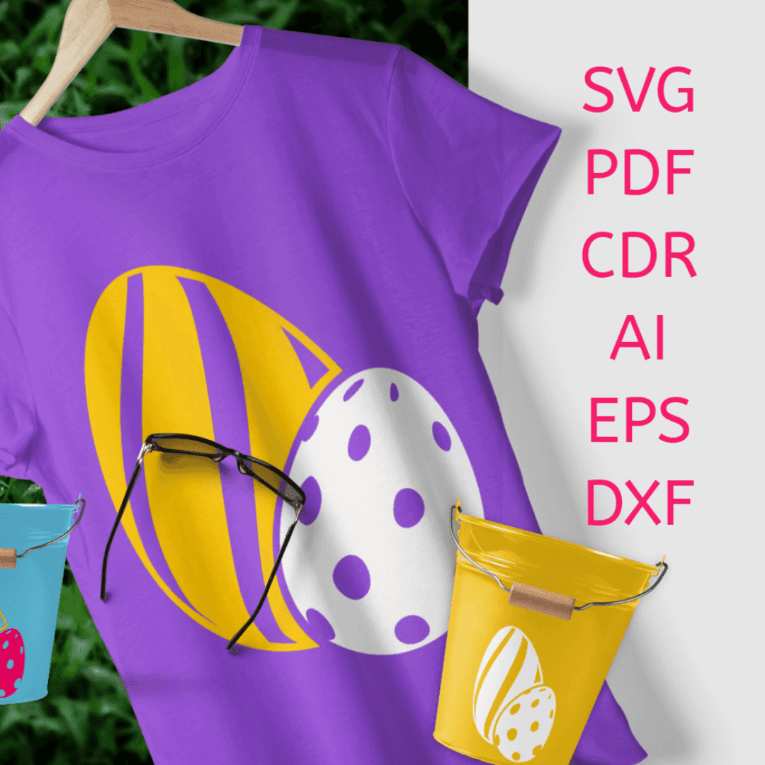 SVG Easter Eggs Stripes and Dots