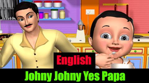 Johny Johny Yes Papa Nursery Rhyme Song with Lyrics and images