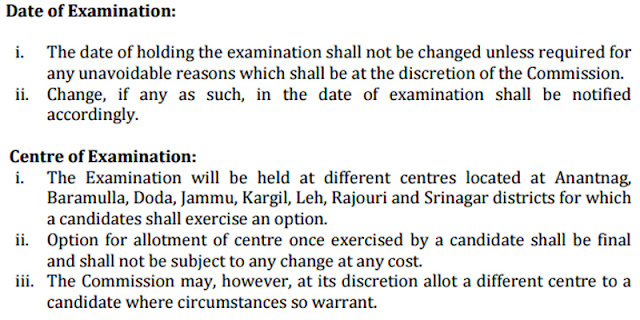 JKPSC Combined Competitive (Preliminary) Examination Syllabus