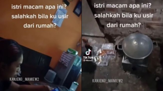 Viral Suami Ngamuk Pulang Tak Ada Makanan, Istri Main HP: Salahkah Bila Ku Usir dari Rumah