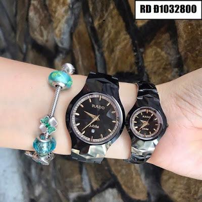 Đồng hồ đeo tay cặp đôi dây đá Rado RD Đ1032800