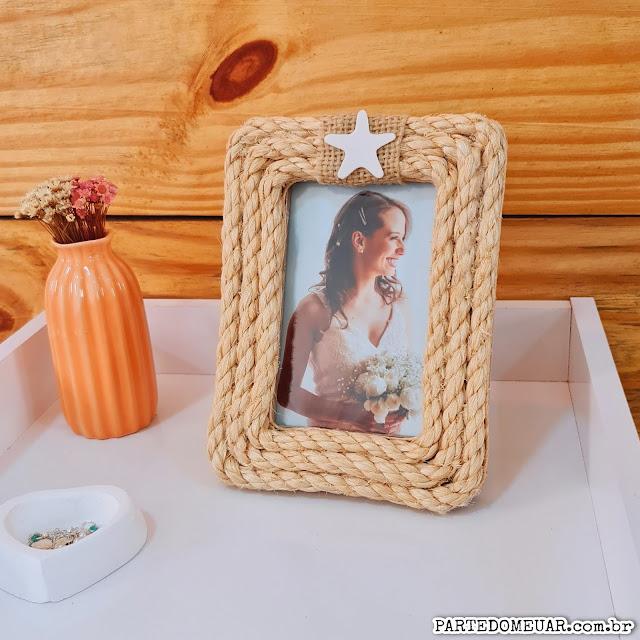 decoração simples porta retrato