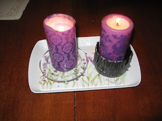 purple candles for Lent