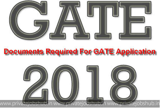 Documents Required For GATE Application