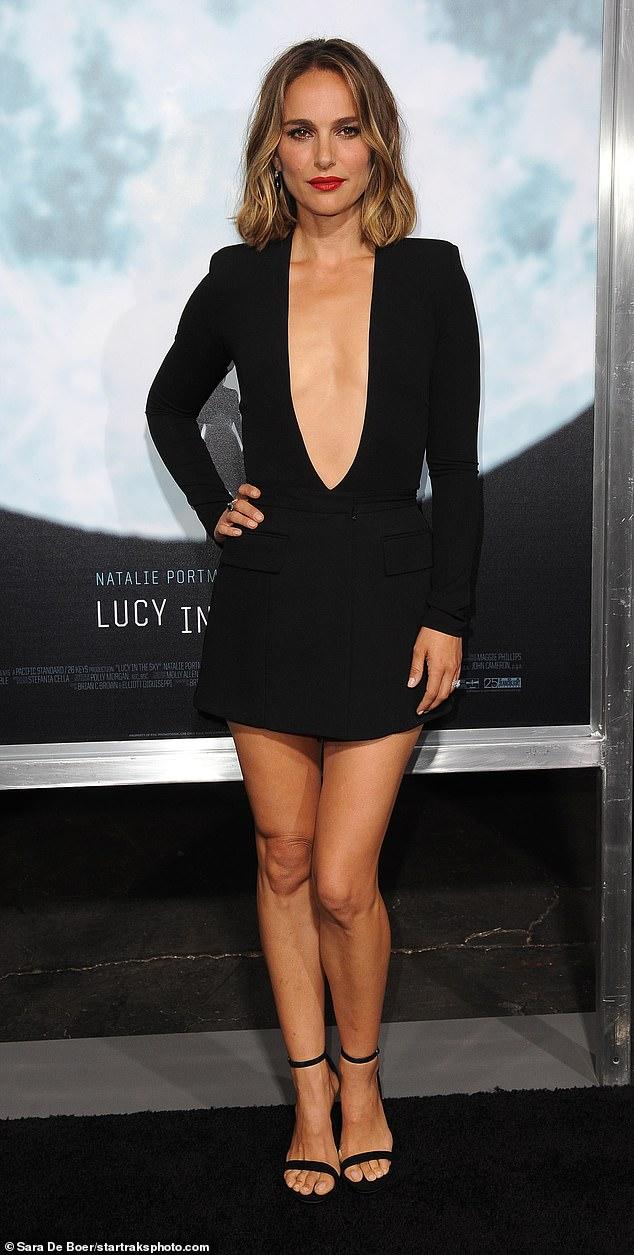Natalie Portman Wore a Teeny-Tiny Miniskirt & Plunging