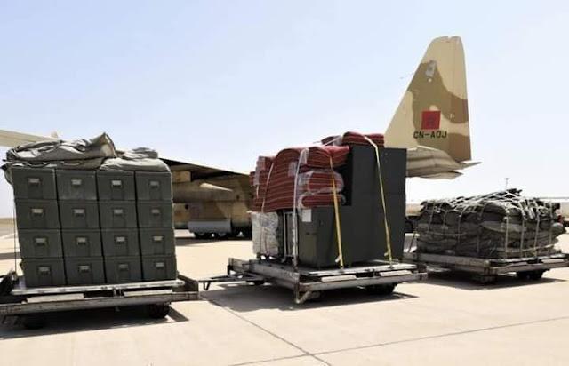 17 رحلة جوية، امنتها طائرات مغربية عسكرية ومدنية، نقلت مساعدات طبية عاجلة الى الشعب اللبناني الشقيق !