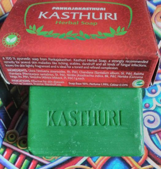 Pankajakasthuri kasturi herbal soap claims & ingredient list