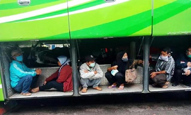 Demi Pulang Kampung, Nekat Duduk di Bagasi Bus untuk Kelabui Petugas