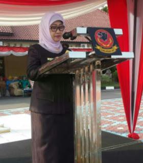 Ana Sopana Bertindak Selaku Inspekur Upacara  Pada Acara Syukuran Hut Bhayangkara Ke 72