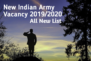 Indian Army Recruitment 2019-20
