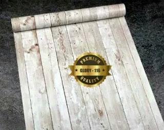 contoh wallpaper sticker dinding motif kayu harga murah