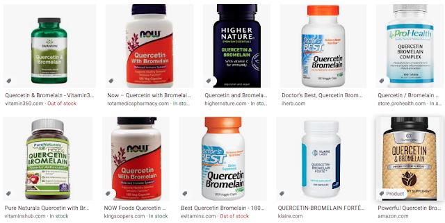 quercetin and bromelain supplements