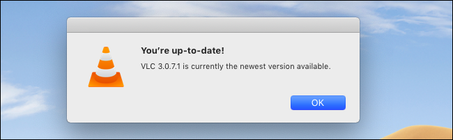 VLC لنظام التشغيل Mac يقول إنه محدث