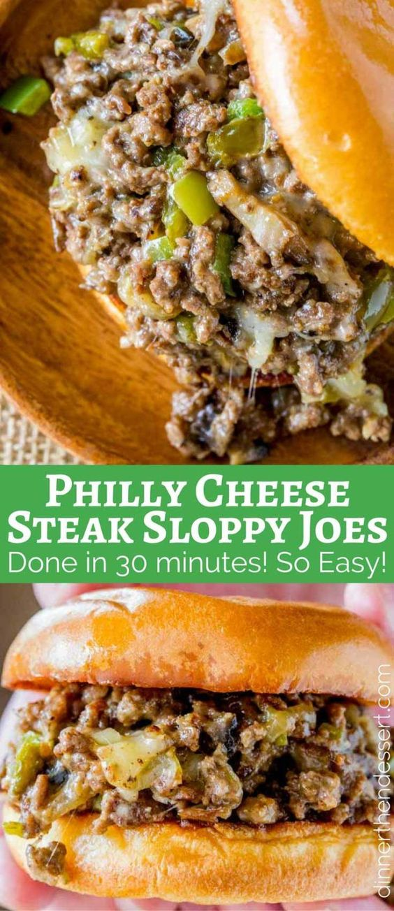 PHILLY CHEESE STEAK SLOPPY JOES #recipes #dinnerrecipes #recipesfordinner #homemaderecipes #homerecipesfordinner #food #foodporn #healthy #yummy #instafood #foodie #delicious #dinner #breakfast #dessert #yum #lunch #vegan #cake #eatclean #homemade #diet #healthyfood #cleaneating #foodstagram