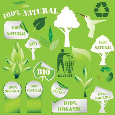 Pegatinas ecológicas en vector