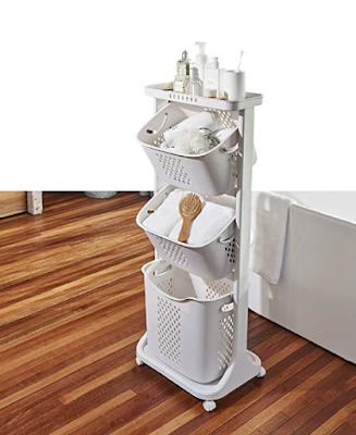 Supreme Mall Plastic Laundry Basket Perfect to Use in Home, Hotels, Businesses Complex and Residential Buildings