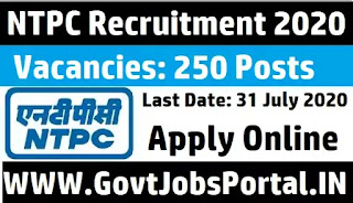 NTPC RECRUITMENT 2020
