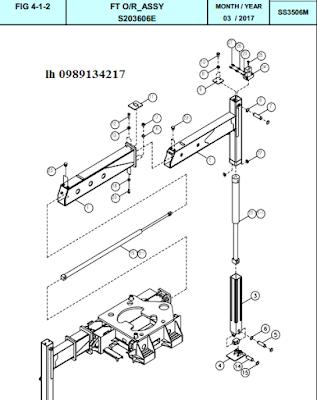 Xy lanh nâng hạ và ra vào chân sau Dong Yang 15 tấn SS3504-SS3506-SS3506M