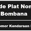 Kode Plat Nomor Kendaraan Bombana