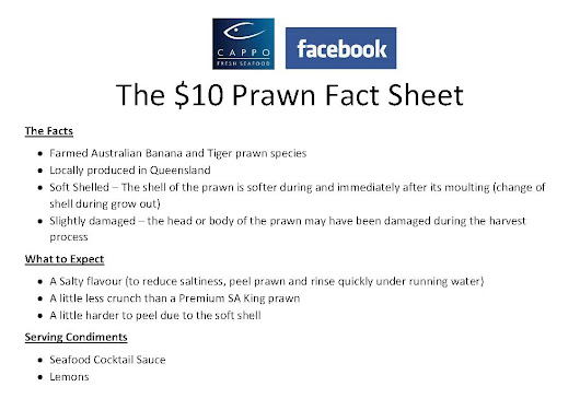 The $10 Prawn Fact Sheet