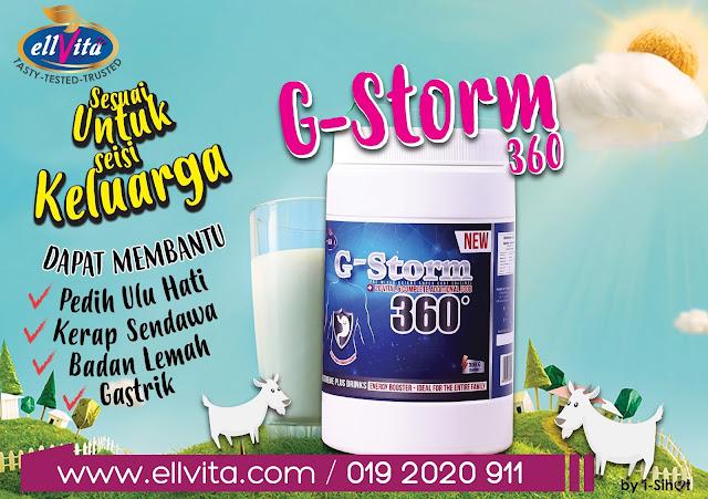 G-Storm 360 Minuman Lengkap Energy Booster.