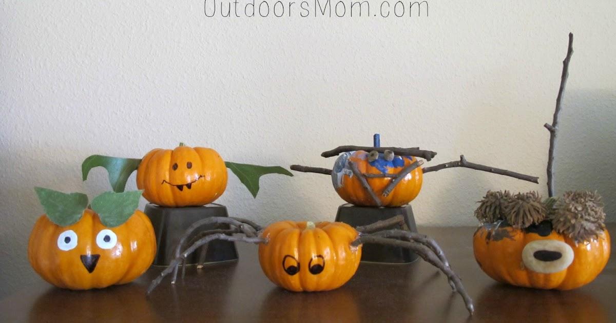 OutdoorsMom Decorating Pumpkins Using Natural Materials