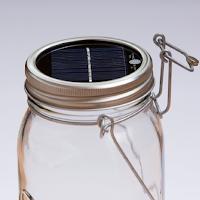 Un bocal en verre transformer en lampe solaire