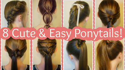 8 quick and easy ponytail ideas for summer! Hair tutorials.