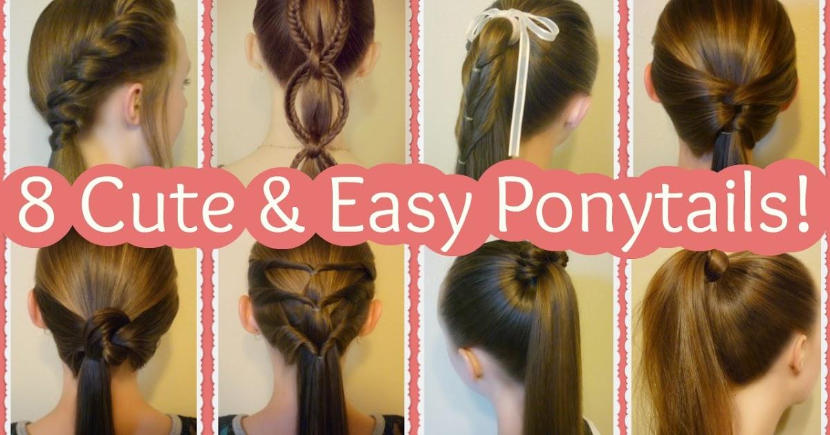 8 cute ponytail hairstyles