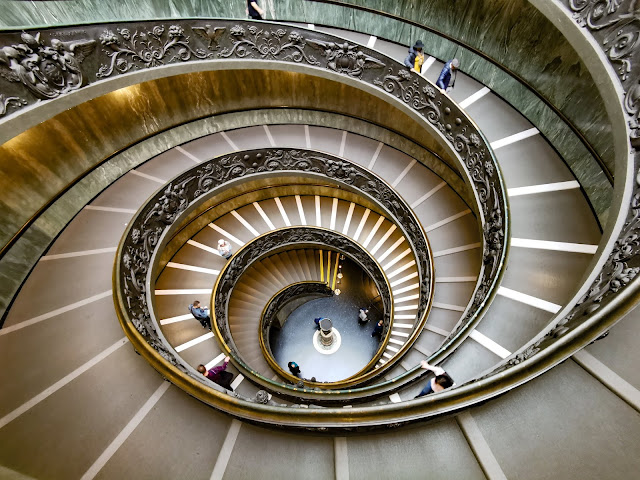 staircase beautiful, bramante, double helix stairs, vatican staircase
