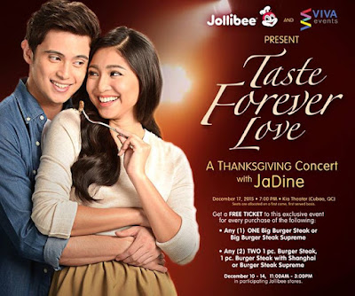 Taste Forever Love Promo, Win tickets to JADINE Thanksgiving Concert!