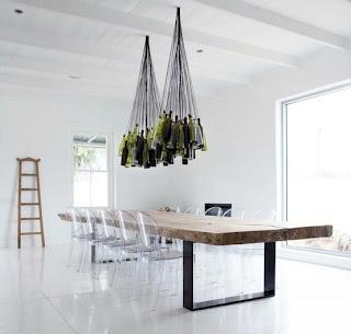 ξύλινη τραπεζαρία   φωτιστικά καρέκλα design ξύλινα πόδια