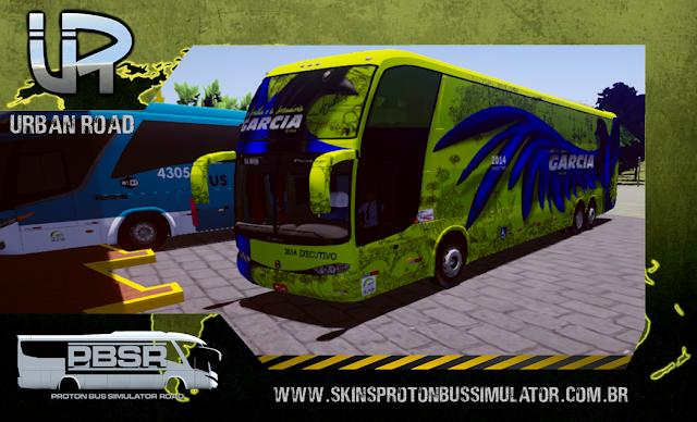 Skin Proton Bus Simulator - G6 1800 Scania K124 Viação Garcia