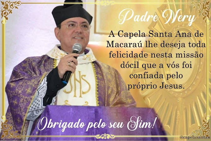 Padre Nery de Abreu, pároco da Igreja Matriz de Cariré, está completando hoje (18), 26 anos de ordenação sacerdotal