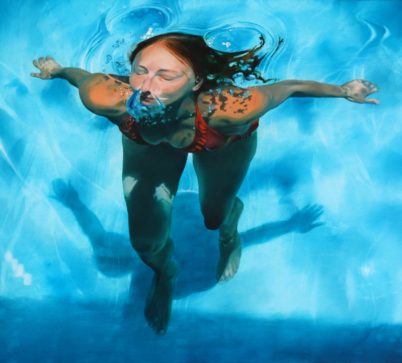 04-Sarah-Harvey-Self-Portraits-of-Realistic-Underwater-Paintings-www-designstack-co