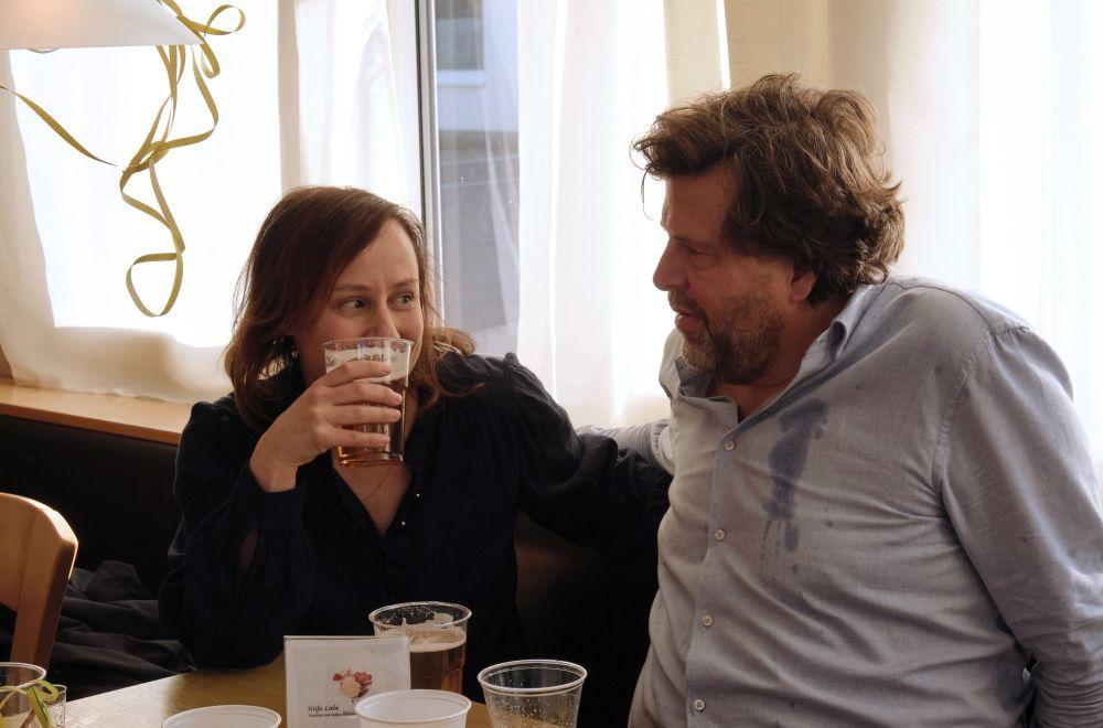 Ahnen noch nicht, dass sie später Sex haben werden: die Tatort-Kommissare Franziska Tobler (Eva Löbau) und Friedemann Berg (Hans-Jochen Wagner).