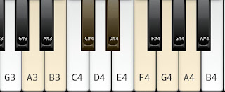 A whole tone scale