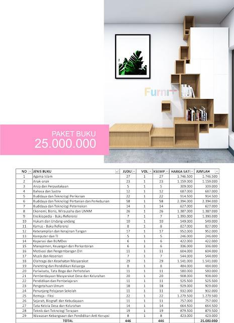 Paket Pembelian Buku Perpustakaan Desa Anggaran Senilai 25 Juta