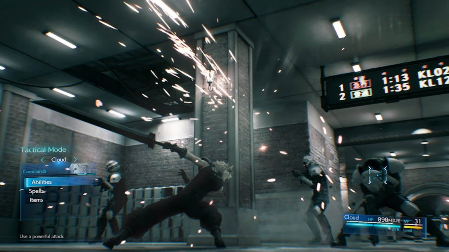 final fantasy 7 remake demo reimagined combat system playable ps4 timed exclusive square enix