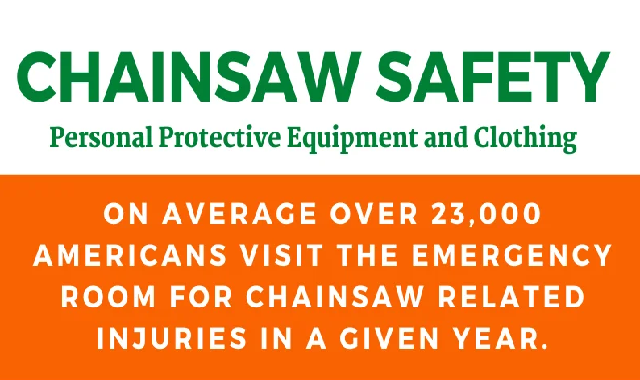 Chainsaw Safety: Personal Protective Equipment and Clothing #infographic