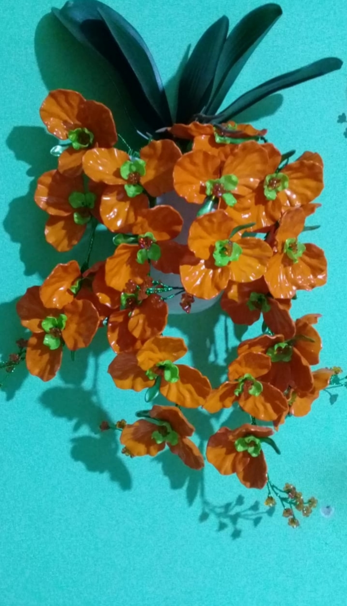 Bunga Anggrek Nan Cantik Dari Bahan Akrilik  Hiasan Dinding