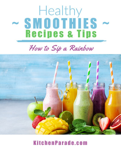 Healthy Smoothies: Recipes & Tips ♥ KitchenParade.com, green smoothies, make-ahead smoothies and more.