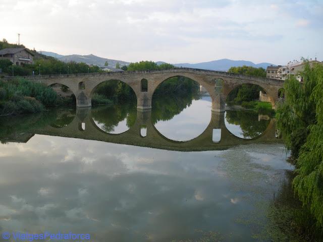 Pont romànic, Puente la Reina, Gares, Navarra, Nafarroa, Art romànic, Camino de Santiago